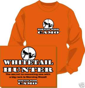 XXL Whitetail Hunter t shirt Morning Wood Camo Deer L/S