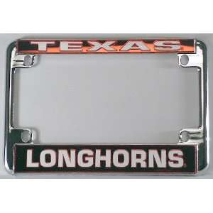 University of Texas Longhorns Chrome Motorcycle License