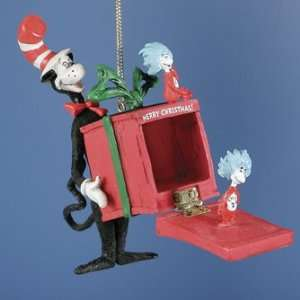 Dr Suess Cat in the Hat Fun in a Box Christmas Ornament