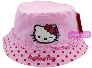 1676P Pink Hello Kitty Embroidered cotton sport Cap Hat