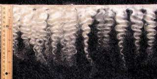 mohair fine weft natural white wavy FP 23982