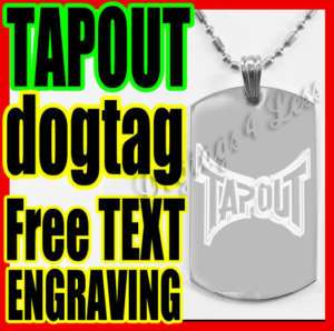 TAPOUT MMA UFC LOGO Military ID Dog Tag Necklace
