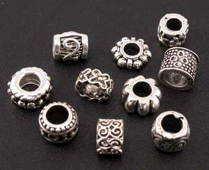Wholesale Mix 80pc Tibetan Silver Charm Spacer Beads Fit European