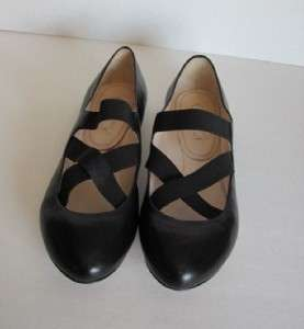 ballet leather elastic criss cross flat shoe woman 39 9 New