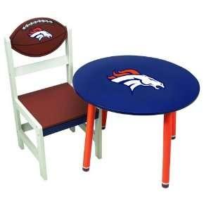 NFL Denver Broncos Childrens Wooden Team Table