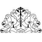 Large Wrought Iron Wall Plaque Decor 40x26   86187