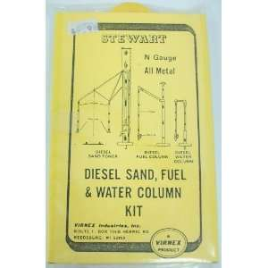 Stewart 1103 N Scale Sand Fuel & Water Column Kit Toys
