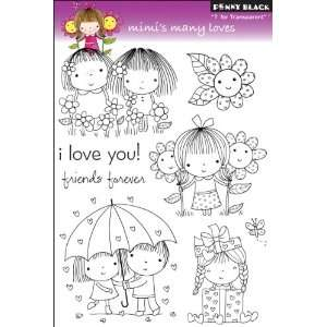 Penny Black Clear Stamps 5X7.5 Sheet Mimis Many Loves
