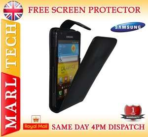 LEATHER FLIP CASE COVER WITH SCREEN PROTECTOR FOR SAMSUNG GT I9100