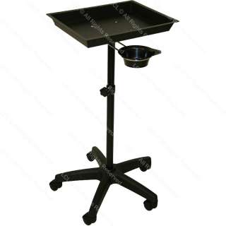 BLACK METAL SERVICE TRAY MEDICAL DOCTOR DENTIST TATTOO COLOR SPA SALON