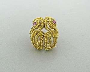ESTATE ILIAS LALAOUNIS GREECE 18K YELLOW GOLD RUBY RING