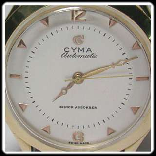 VINTAGE CYMA   14K SOLID GOLD   AUTOMATIC   BEAUTIFUL MANS WATCH