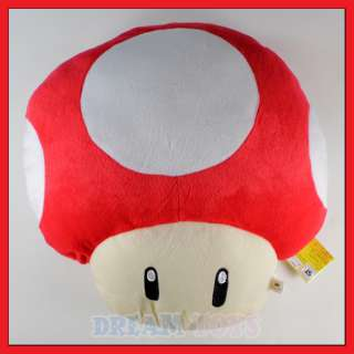 15 Super Mario Bros Red Mushroom Plush Cushion/Pillow