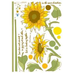 Decoration Wall Sticker Decal   Sunflower Love Quote