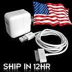 10W USB Wall Charger Adapter+Cable For iPod iPad 1/2/3 new ipad iPhone