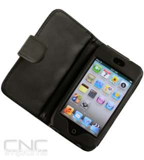 DELUXE LEATHER FOLDING CASE FOR APPLE IPOD TOUCH iTouch 4G 4th Gen