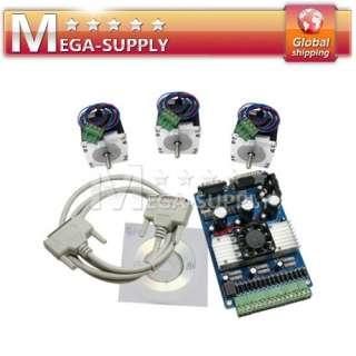 CNC Kit 3 AxisTB6560 NEMA 23 Stepper Motor Driver + Software Mach3