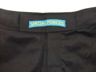 US ARMY SPECIAL FORCES SF COMBATANT MMA PT BLACK BOARD SHORTS FIGHT