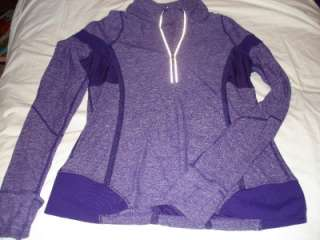 Lululemon Run Long Sleeve Heathered Purple Sz 10