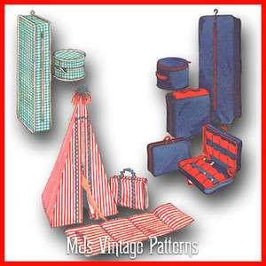 Barbie Tammy Accessories ~ Luggage Suitcase Garment Bag Hat Box