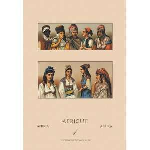 Traditional Dress of Northern Africa #1 24X36 Canvas Giclee: