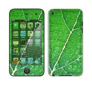 Apple iPod Touch 4th Gen Skin Decal Sticker   Green Leaf Texture