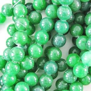 14mm dark green jade round gemstone beads 16 strand