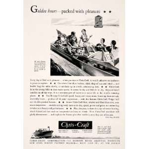 1931 Ad Chris Craft Mahogany Motor Boat Cruiser Yacht