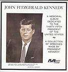 JOHN F KENNEDY MEMORIAL ALBUM 2099 VG