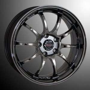 TRAKLite Stagger2 17X7 5X114 ET45 Black Chrome Automotive