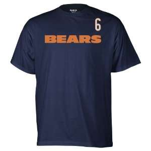 Mens Chicago Bears Jay Cutler #6 Game Gear T shirt