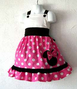 Custom Boutique Minnie Pink and Black Jumper Dress