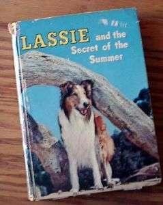 1958 Lassie & secret of Summer Hardcover Book   Illos