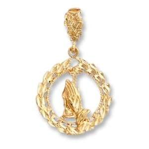 LIOR   Pendant Round des Mains   Gold Plated Jewelry