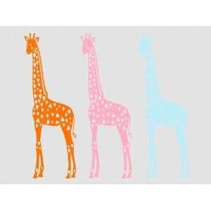 Wall Sticker Decal Giraffe 170cm xxl  30 dark red  Kitchen