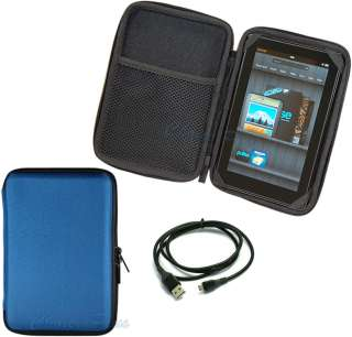 Case EVA Pouch For  Kindle Fire Tablet+USB Charger Cable