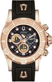 Bulova Kirkwood Accutron Rose Gold Plated Mens Watch 64A101