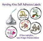 108~ Bridal Shower Wedding Hershey Kiss Candy Wrapper Labels Kisses