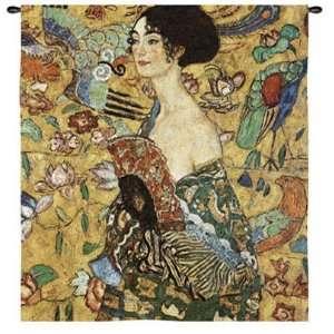 Lady with Fan by Gustav Klimt, 49x53