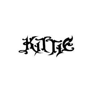 KITTIE BAND WHITE LOGO DECAL STICKER