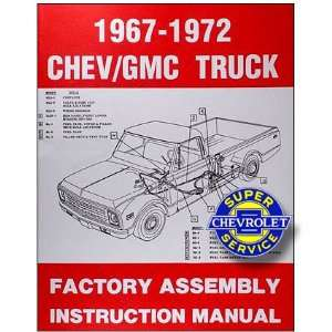 1972 Chevy Chevrolet GMC Truck Assembly Manual (with Decal) Chevrolet