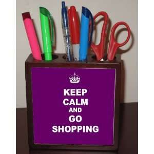 Rikki KnightTM Keep Calm and Go Shopping   Purple Color 5
