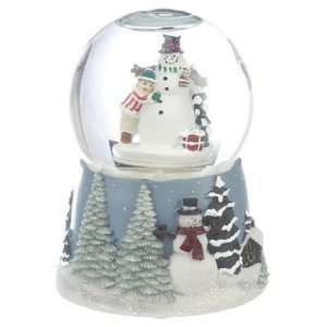 Personalized Medium Snowman Snow Globe Christmas Ornament