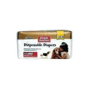 PUPSTERS DISPOSABLE DIAPERS, Color WHITE; Size X LARGE
