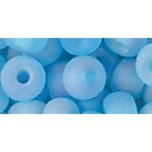 Glass 4mm Pony Beads   17gr/Aqua Matte Aurora Bo: Home