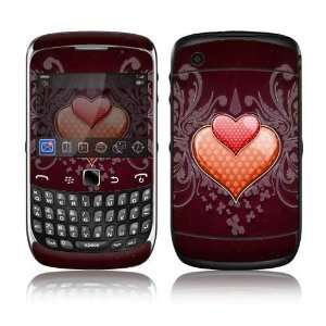 BlackBerry Curve 3G Decal Skin Sticker   Double Hearts