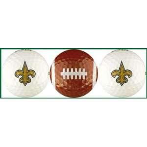 Saints Golf Balls 3 Piece Gift Set with NFL Football Team Logos