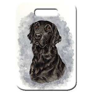 Set of 2 Flat Coated Retriever Luggage Tags Everything