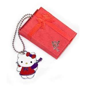 Cute Red Purple Famous Kitty Pendant Necklace Fashion Jewelry Jewelry