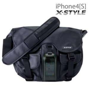 X STYLE MESSENGER BAG+HARD CASE for iPhone (Smoky Green